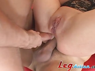 Missy Monrea mooning while her anal gets gangbanged hardcore