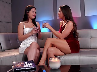 Gorgeous cloudy teen lesbian strengthen Tweeny spinster Mac and Alina Lopez