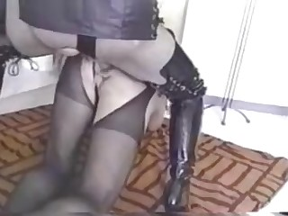 Vintage Crossdresser strapon Stuffed