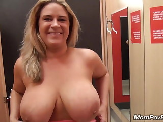 big naturals MILF flashing with the addition of fucking