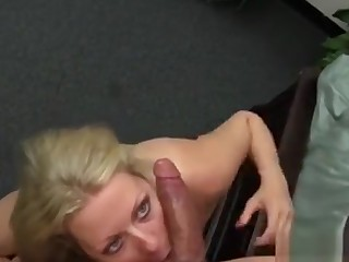 Cougar Gags On Big Cock