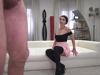 Romanian grumble Nelly Kent is ready to plough Rocco's strong cock