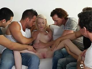 Five Guys Fornicate Teenage Girl - HARDCORE MOVIE