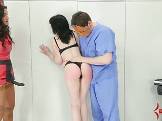 Submissive pallid bitch gets will not hear of holes fishy and she gives a kinky BJ