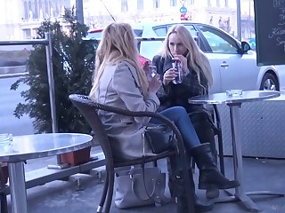 Two luscious Czech chicks are best-liked up and fucked hard by one gung-ho dude
