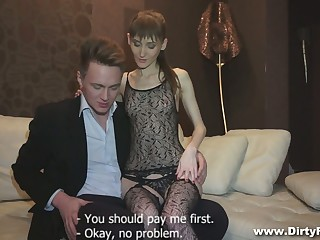 'tec young courtesan Elena is eager to be fucked doggy hard fair to middling