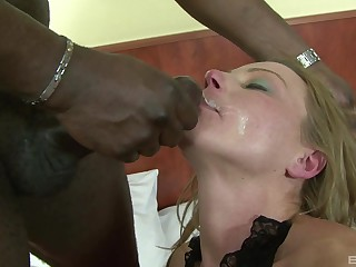 Of age blonde Suzy has her asshole gaped and feature covered with cum