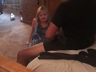 Gilf milf wife Jan blowjob hidden cam #123