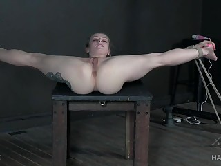 Flexi girl pussy fucked with toys in incredible BDSM