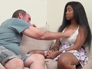 hefty melon and culo dark-hued damsel screwed by hottest mate paterfamilias