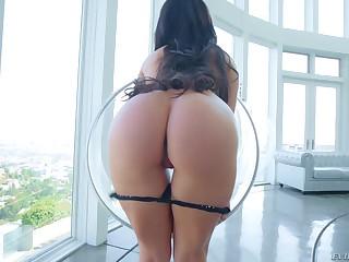 Brunette with bubbly ass Kissa Sins loves interracial sex