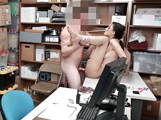 Slender problematic 18yo schoolgirl busted and nailed hard by a mall co