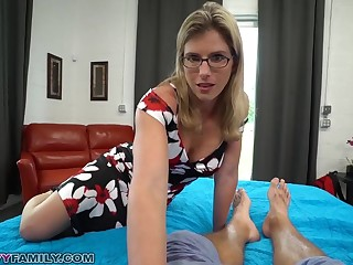 Slutty Mom Cory Chase Gives Step Sprog a Alter ego Hand coupled with Pussy