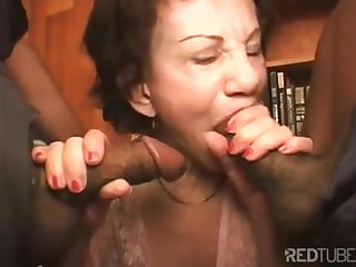 Orgy procreation grannies sucking black dicks with fancy