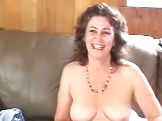 Horny bubbly mature doll passionately touches herself