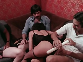 Vintage Group Intercourse Scene From Classic XXX Flick