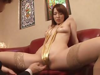 Doggy bonking for Asian milf Hatano Yui