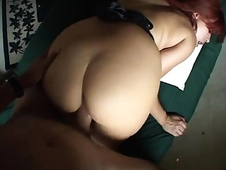 Sultry redhead mature gives a great pov handjob