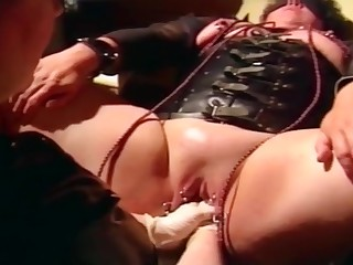 Pierced French Slave gets roiled Fisted