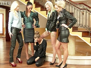 Beautiful And Naughty Five Lesbians Beg O - Angela Christin