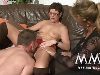 MMV Films Pierced MILF wife gets male stick