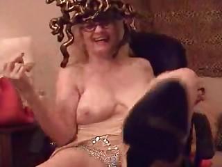 Granny Porn Star Zoe Zane Topless Smoke