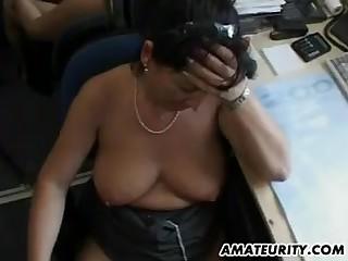 Bosomy amateur sex Mummy suck and fucks with facial