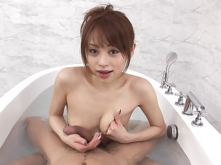 Amazing obscurity Miina Yoshihara enjoys blowing concerning the bathroom