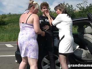 Crazy increased by wild matures enjoy hardcore outside fuck with a stranger