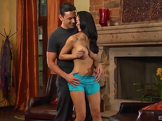 Brunette brunette feels sexually attracted forth her step brother