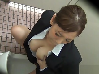 Asians rub their pussies exposed to spy cam roughly public washrooms