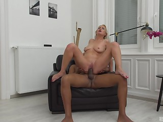 Adult wife Kathy Anderson enjoys her first big malicious cock