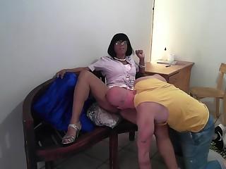 Step-mom teaches stepson, Ch. 2 How to lick a Vagina #BACKTOSCHOOL2019