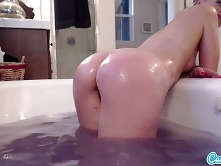 CamSoda - Tori Black bathes and shows off her pussy
