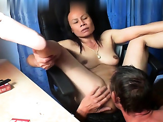 Thai asian milf mature drag inflate thing embrace anal