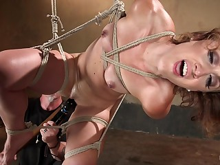 Wild bondage for the naked fit together who's loves being obedient