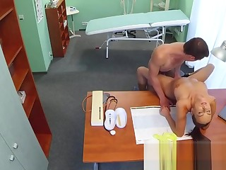 Attend to fucks stud while doctor is out