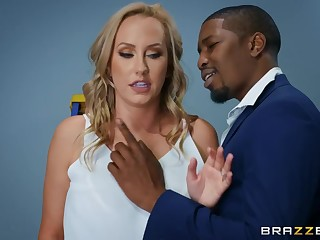 Interracial intercourse in the office with Brett Rossi & Isiah Maxwell