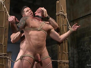 Extreme gay porn all over slavery scenes for two bareback hunks