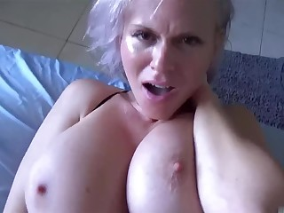 Sexually frustrated son needs a alter ego hand from large-breasted MILF