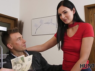 Outsider offers money for sex with pretty girlfriend