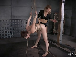 Rough pussy fucking with a strapon between CiCi Rhodes & Rain DeGrey