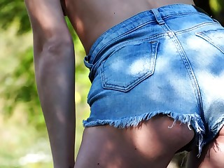 Beautiful Roxy Ryder masturbate open-air