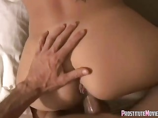 Lucky dude gets a devout blowjob from horny slut