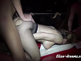Gangbang connected with some guys at the club