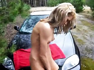 Kirmess tramp takes a well-disposed pussy shag in close wide outdoor