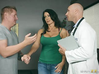 Insolent MILF lets her physician to stick it up her ass