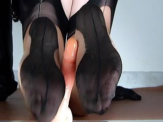 Foetus Lulu reverse footjob in bicolor categorically fashioned