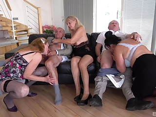 Impeccable of age orgy with homemade amateurs