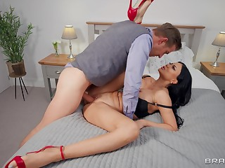 Amazing nude MILF fucked far a brutal manner and made to swallow
